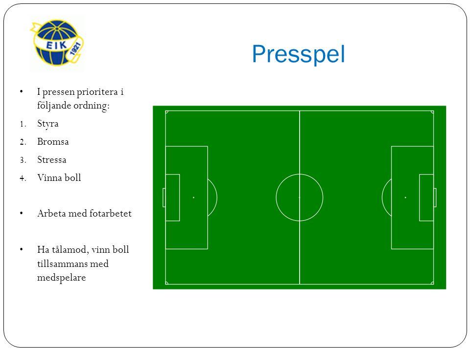 Presspel I pressen prioritera i följande ordning: 1.