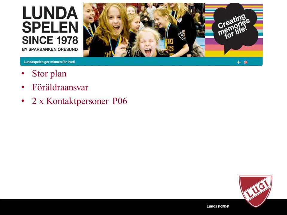 Lunds stolthet Stor plan Föräldraansvar 2 x Kontaktpersoner P06