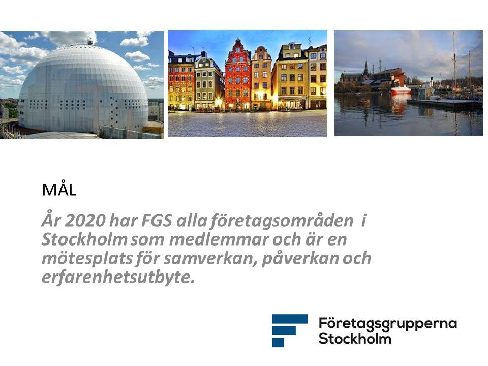 VERKSAMHETSOMRÅDEN FGS mål och strategier fördelas på följande verksamhetsområden: 1.