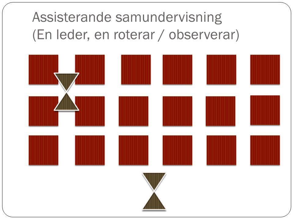 Assisterande samundervisning (En leder, en roterar / observerar)