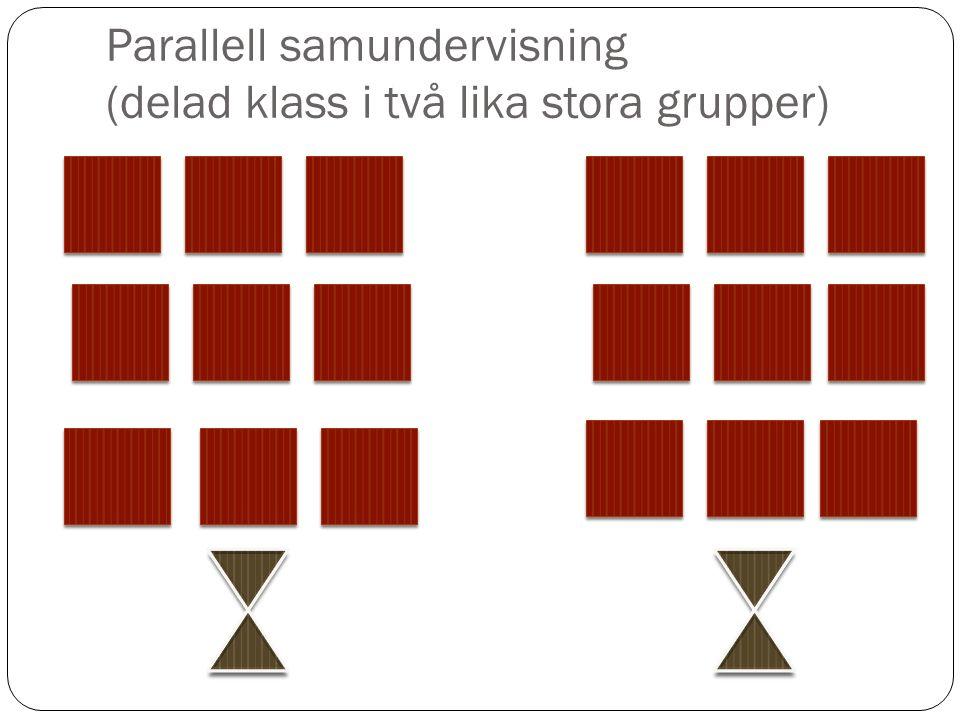 Parallell samundervisning (delad klass i två lika stora grupper)