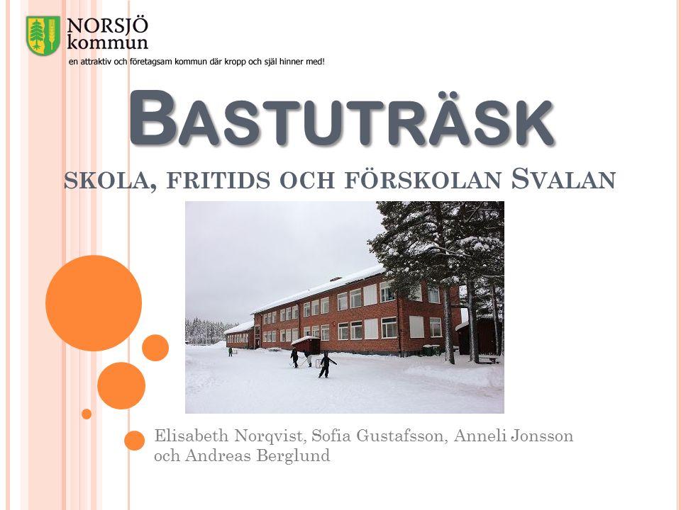 B ASTUTRÄSK B ASTUTRÄSK SKOLA, FRITIDS OCH FÖRSKOLAN S VALAN Elisabeth Norqvist, Sofia Gustafsson, Anneli Jonsson och Andreas Berglund