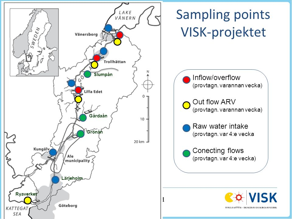 Sampling points VISK-projektet Inflow/overflow (provtagn.