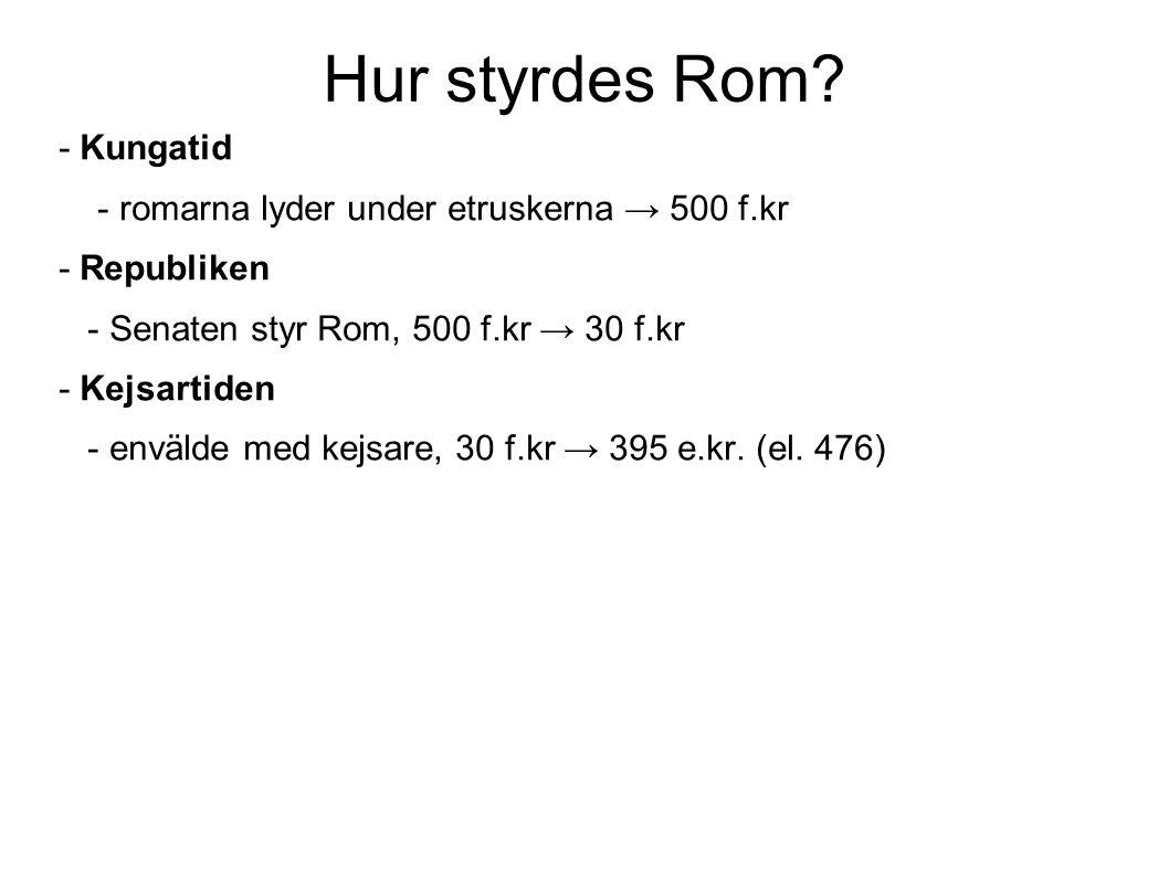 Hur styrdes Rom.