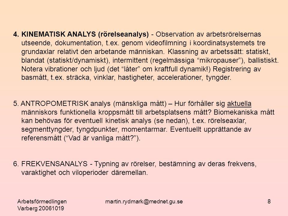 Arbetsförmedlingen Varberg 20061019 martin.rydmark@mednet.gu.se8 4.