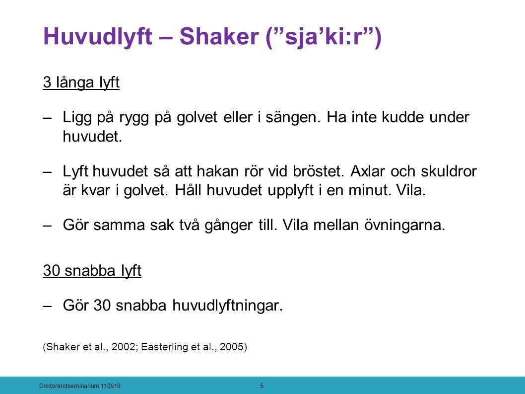 Huvudlyft – Shaker ( sja'ki:r ) 3 långa lyft –Ligg på rygg på golvet eller i sängen.