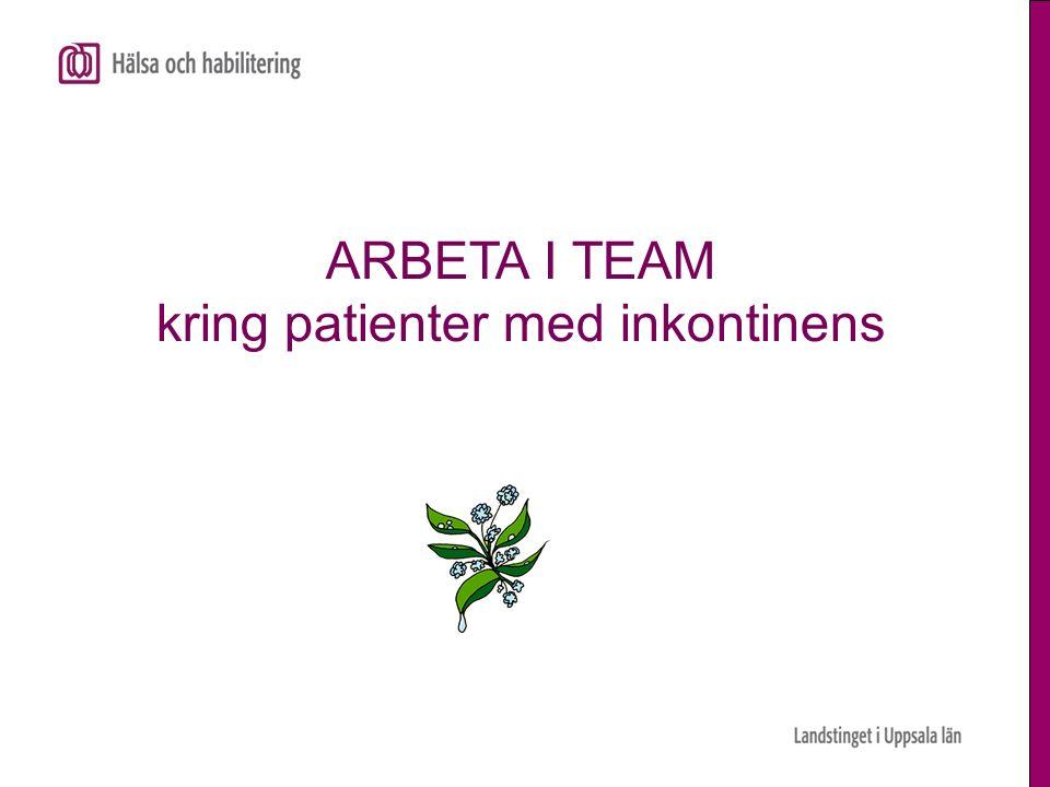 ARBETA I TEAM kring patienter med inkontinens