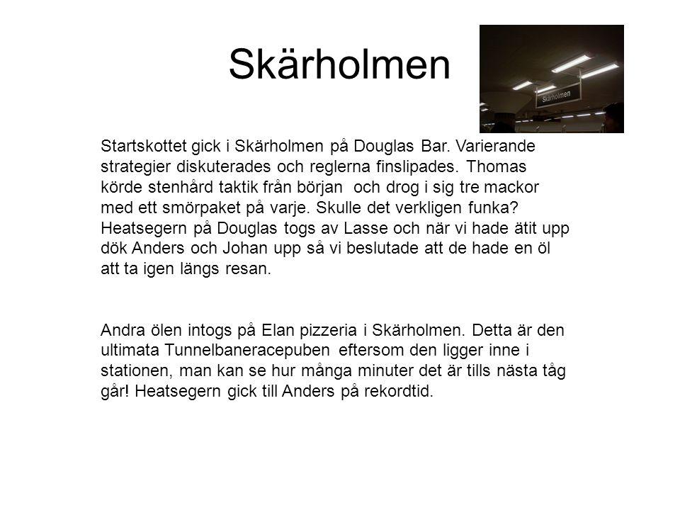 Tunnelbanerace 2002-10-05 Skärholmen- Gamla stan Tävlande: Lasse Danne Måns Thomas Mårten Johan Anders