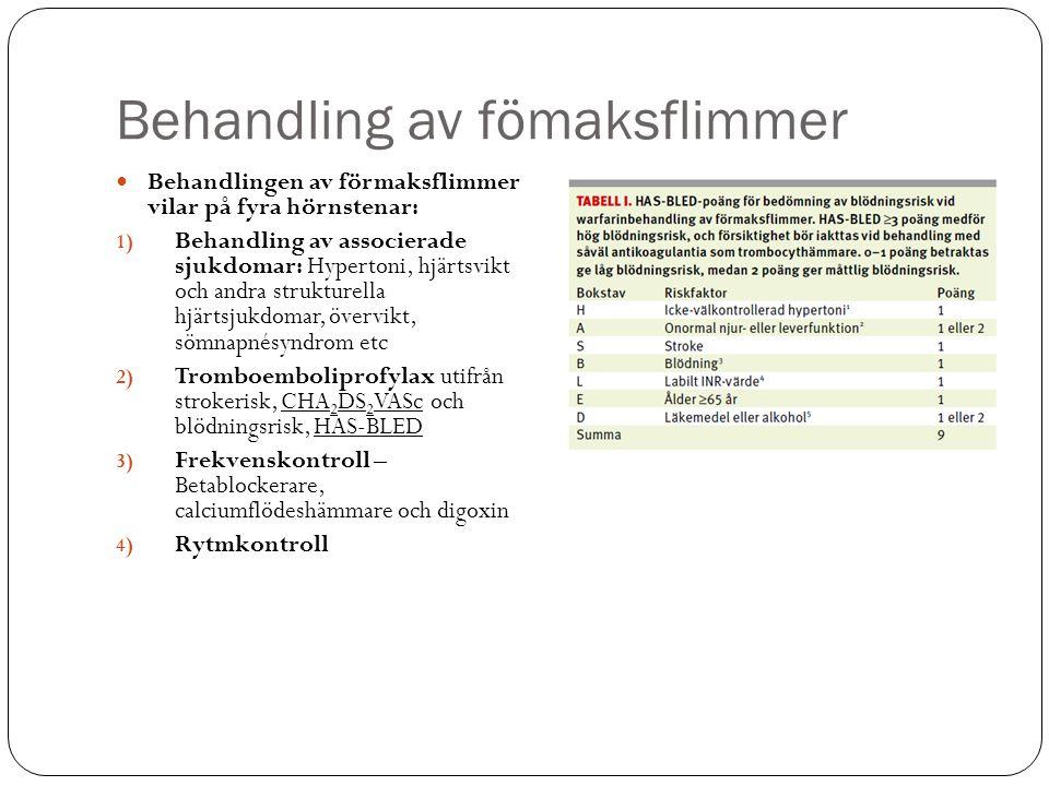 Bakgrund - förmaksflimmer Behandlings- strategi Rytmkontroll Återställning SR.