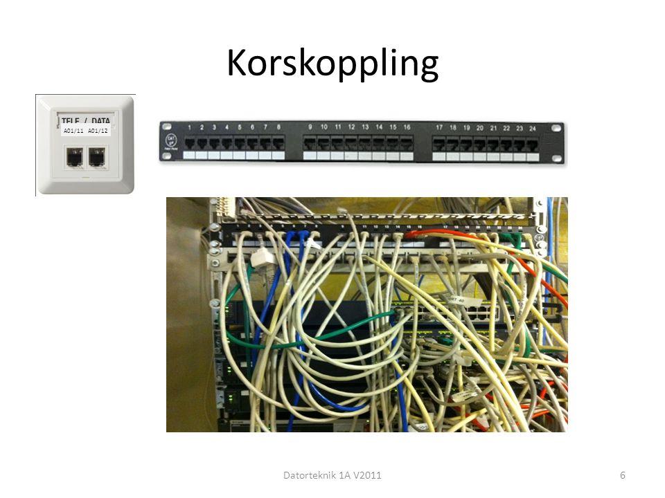 Korskoppling Datorteknik 1A V20116 A01/11 A01/12