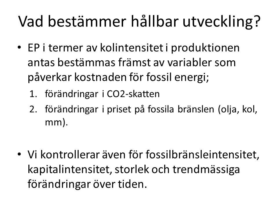Vad bestämmer hållbar utveckling.