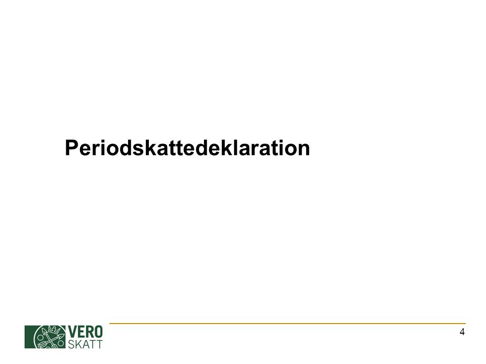 En periodskattedeklaration kan lämnas in elektroniskt i tjänsten Skattekonto via Tyvi-serviceleverantörer i tjänsten Palkka.fi (endast arbetsgivarprestationer) i tjänsten Ilmoitin.fi på papper 5