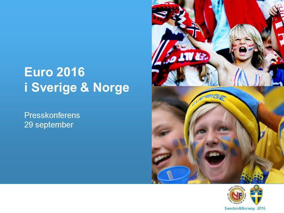Sweden&Norway 2016 1 Euro 2016 i Sverige & Norge Presskonferens 29 september