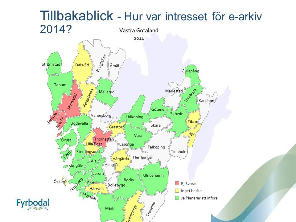 Tillbakablick - Hur var intresset för e-arkiv 2014