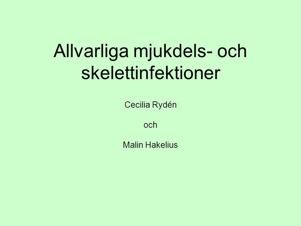 Allvarliga mjukdels- och skelettinfektioner Cecilia Rydén och Malin Hakelius