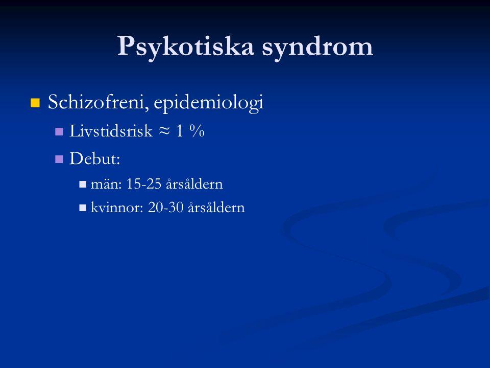 Psykotiska syndrom Antipsykotisk effekt Positiva symtom Förebygger psykosåterfall Effektivt hos två av tre patienter Antidepressiv effekt Seroquel