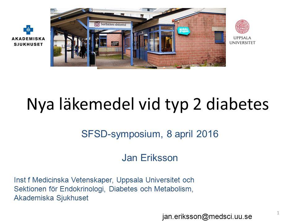 Ca 350 miljoner patienter med diabetes i världen.– Ca 90% typ 2.