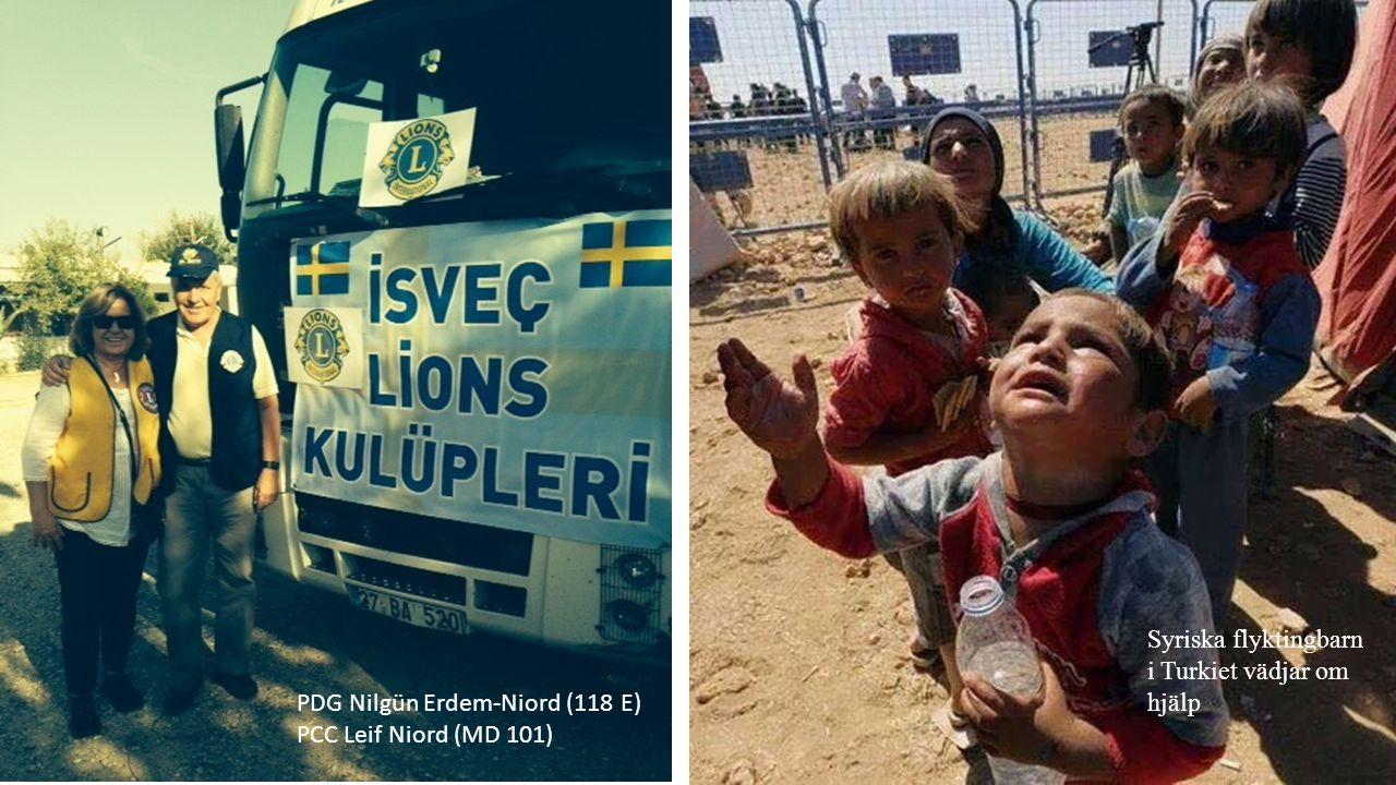 PDG Nilgün Erdem-Niord (118 E) PCC Leif Niord (MD 101) Syriska flyktingbarn i Turkiet vädjar om hjälp