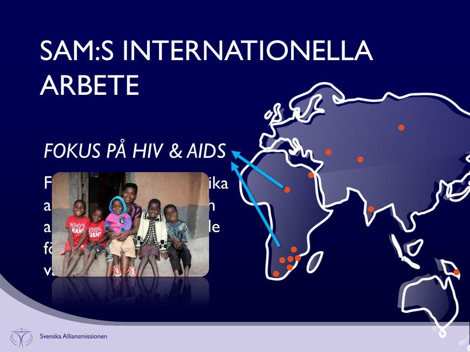 Framförallt i södra Afrika arbetar vi med hiv- och aidsproblematiken, både förebyggande och vårdande.