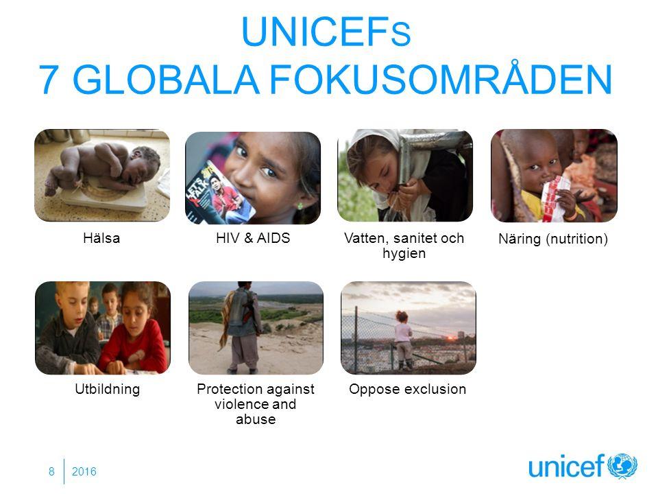 UNICEF S 7 GLOBALA FOKUSOMRÅDEN 2016 8