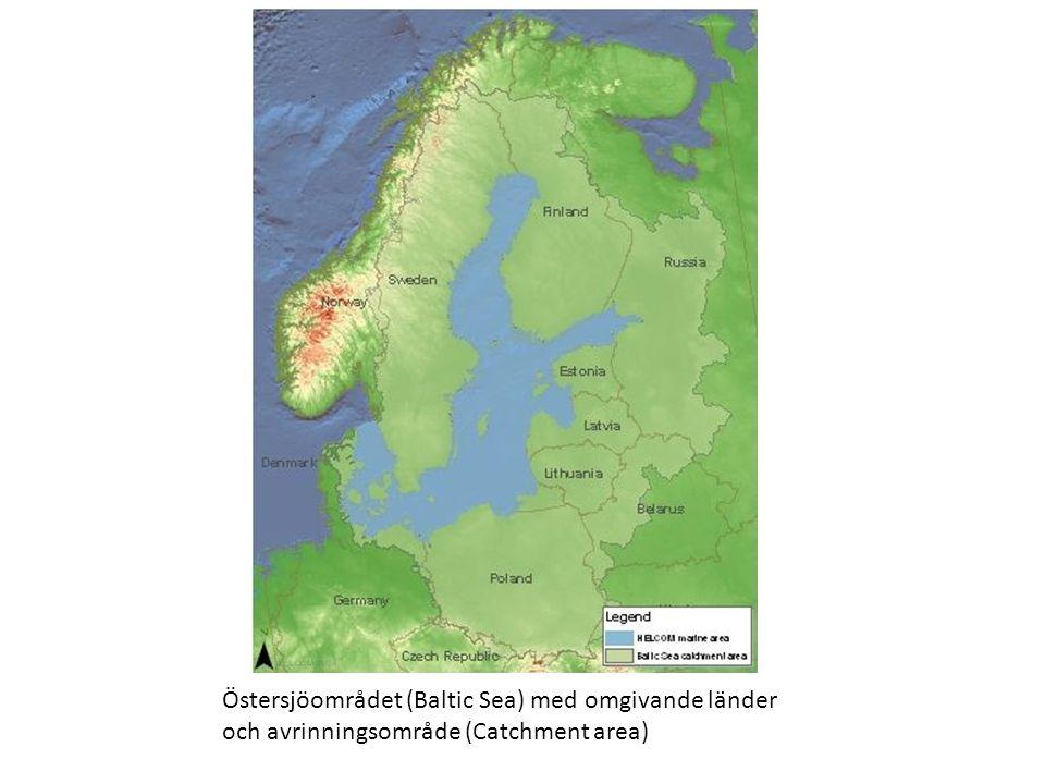 Östersjöområdet (Baltic Sea) med omgivande länder och avrinningsområde (Catchment area)