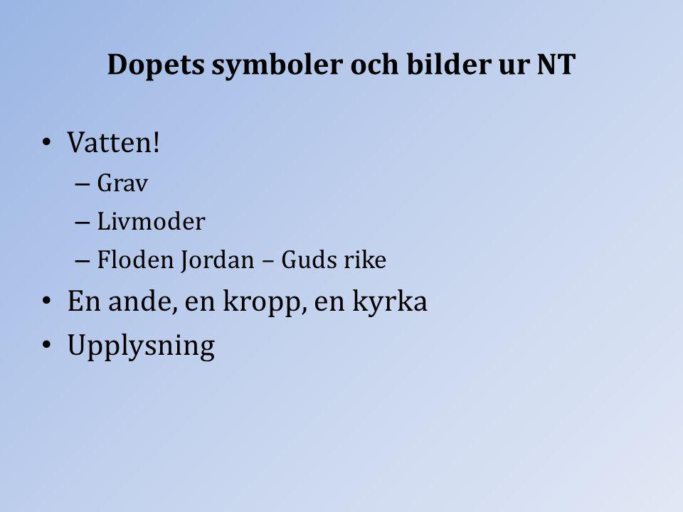 Dopets symboler och bilder ur NT Vatten.