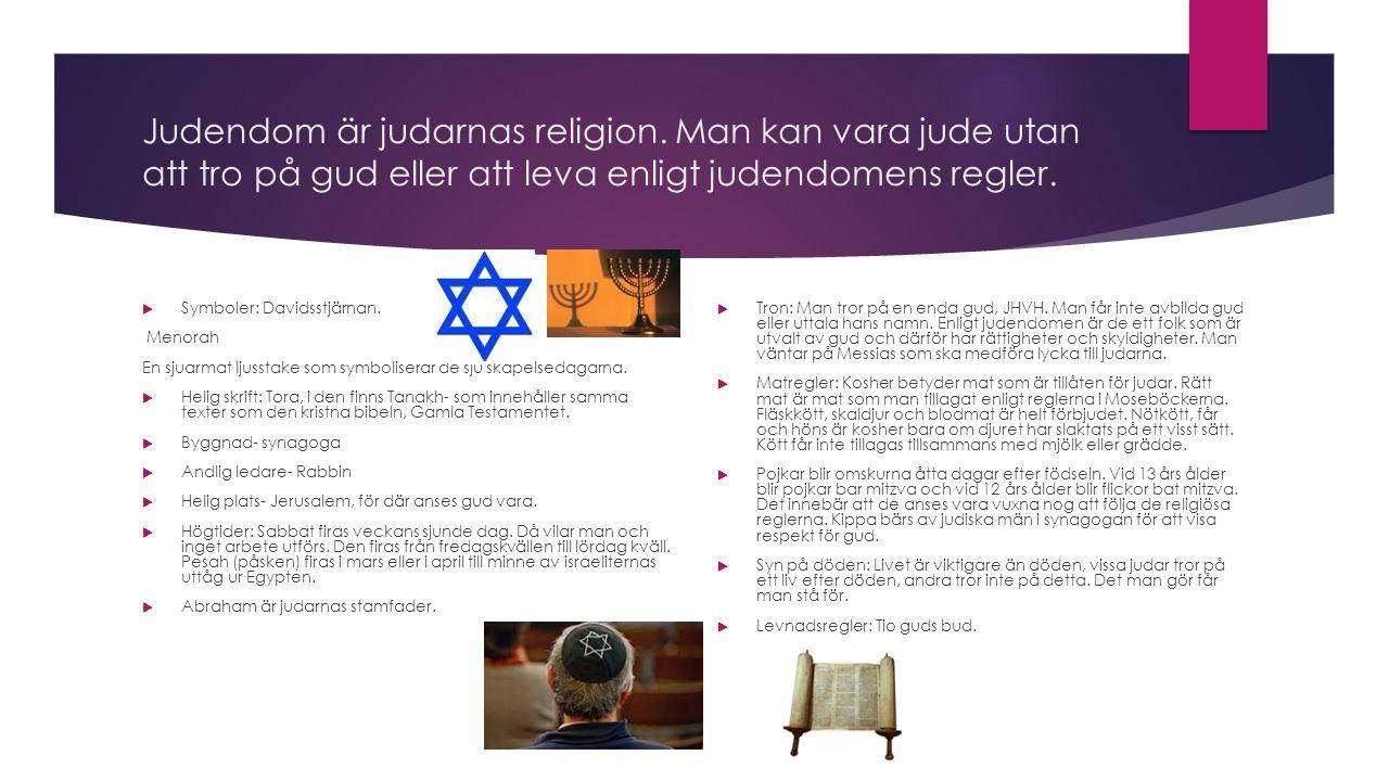 Judendom är judarnas religion.