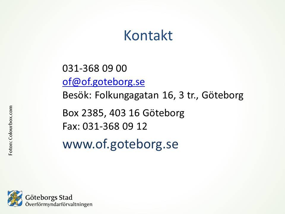 031-368 09 00 of@of.goteborg.se Besök: Folkungagatan 16, 3 tr., Göteborg Box 2385, 403 16 Göteborg Fax: 031-368 09 12 www.of.goteborg.se Kontakt Foton: Colourbox.com