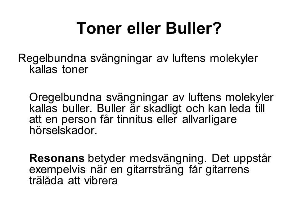 Toner eller Buller.