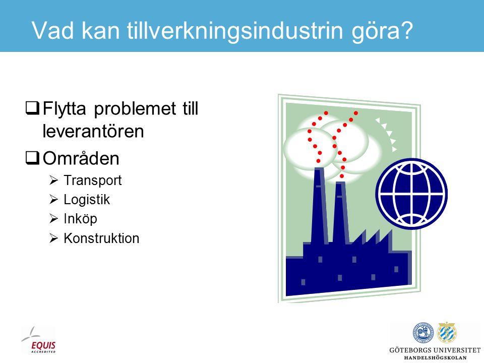 Östhandelns karaktär  Förr råvaror och konsumtionsvaror  Nu även komponenter och delsystem  Ford: 2010 - hälften av komponenterna till europeiska fabriker från lågkostnadsländer  Handel av komponenter i båda riktningarna.
