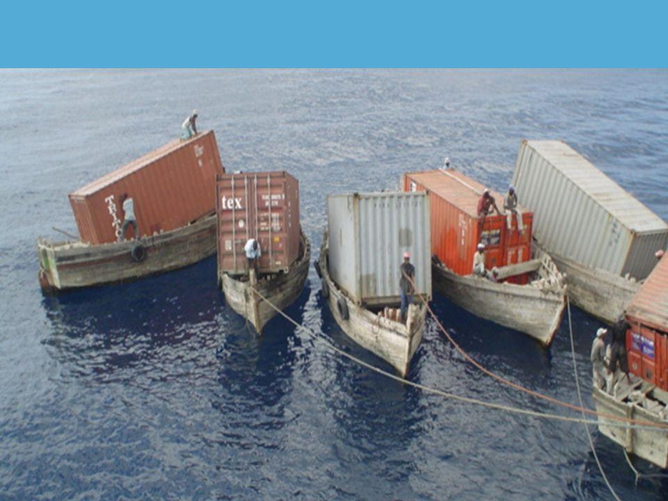 1 TEU-fartyg utanför Port Thiefrock i S:t Winnifred & Augustus