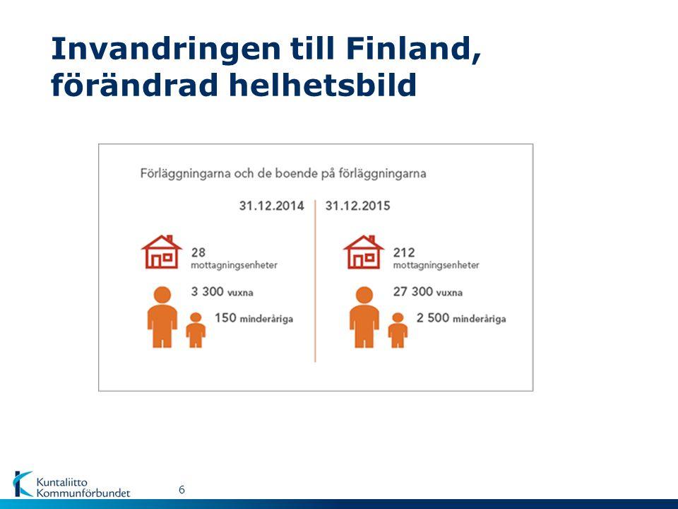 Invandringen till Finland, förändrad helhetsbild 6