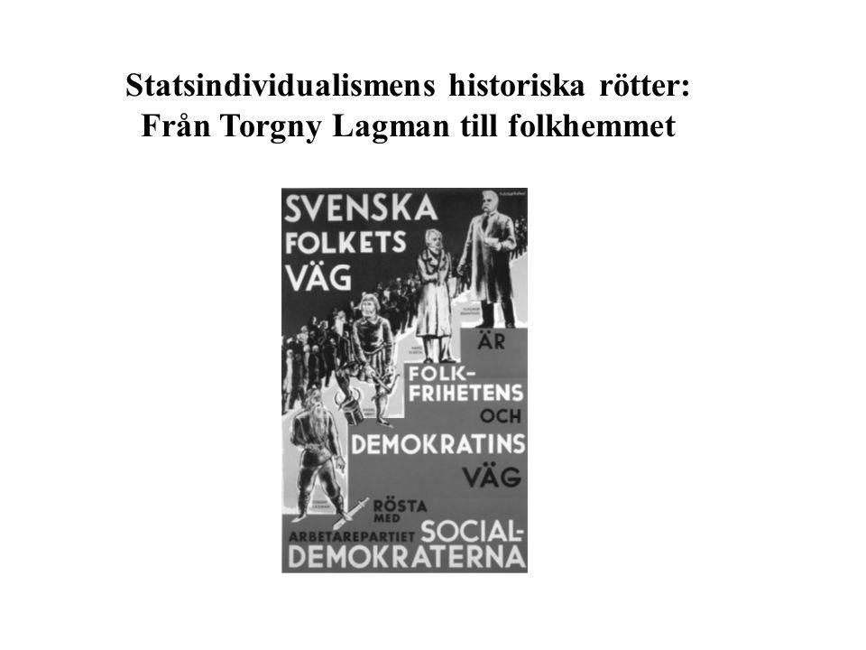 Statsindividualismens historiska rötter: Från Torgny Lagman till folkhemmet