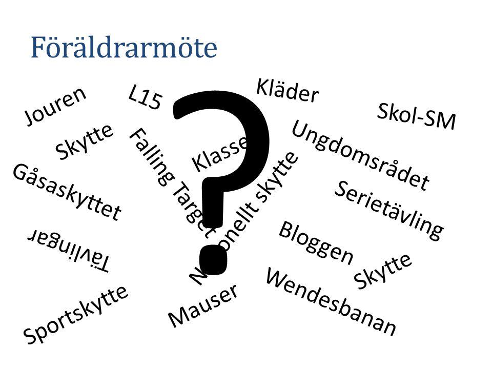Agenada Christianstads Skyttesällskap Korthåll – träningskvällar Föreningsvapen – en svår fråga Tävlingar NYA regler i år Jouren – vi behöver hjälp SM-Veckan