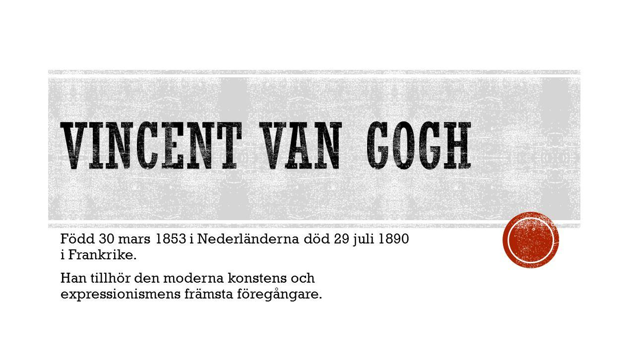 Född 30 mars 1853 i Nederländerna död 29 juli 1890 i Frankrike.
