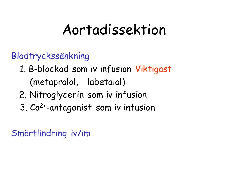 Aortadissektion Blodtryckssänkning 1.