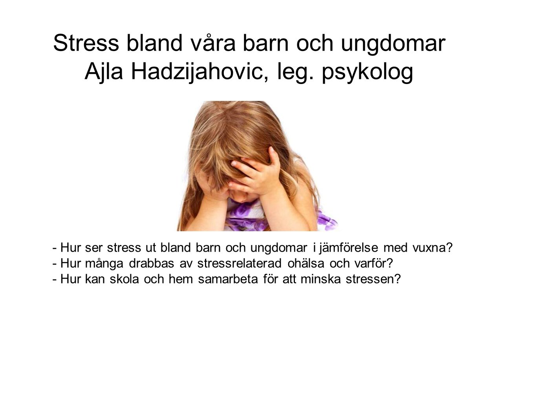 http://www.scb.se/sv_/Hitta-statistik/Artiklar/Barn- stressade-av-laxor-och-prov/ Prevalens, könsskillnader, åldersskillnader, orsaker & vanligaste symtomen.