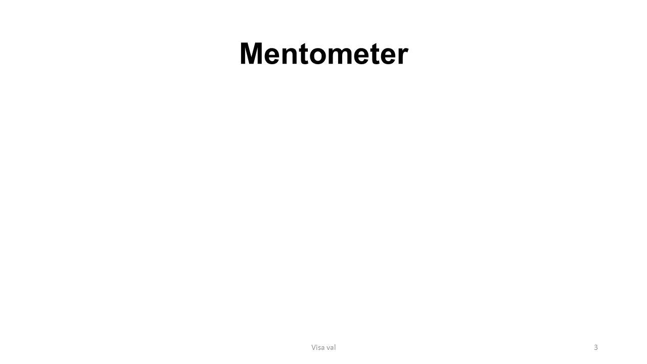 Mentometer Visa val3