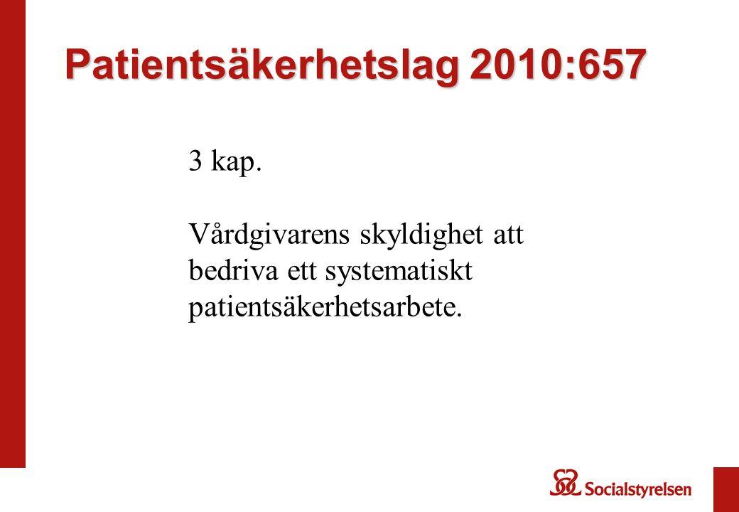 Patientsäkerhetslag 2010:657 3 kap.