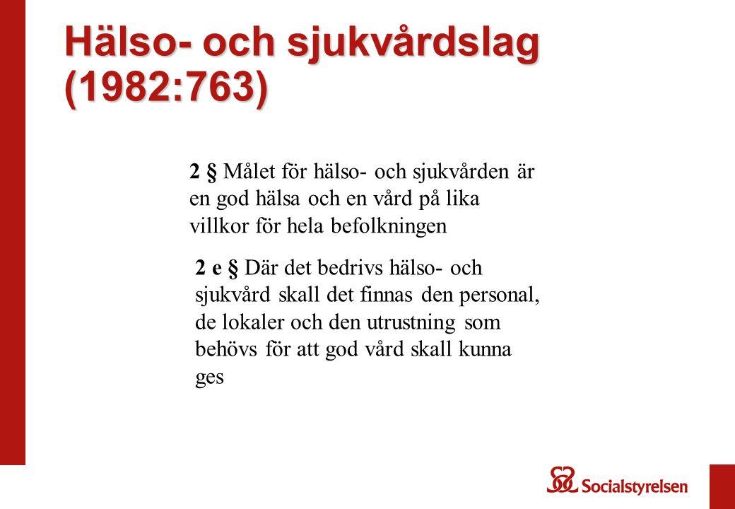 6 kap.Skyldigheter för hälso- och sjukvårdspersonal m.fl.