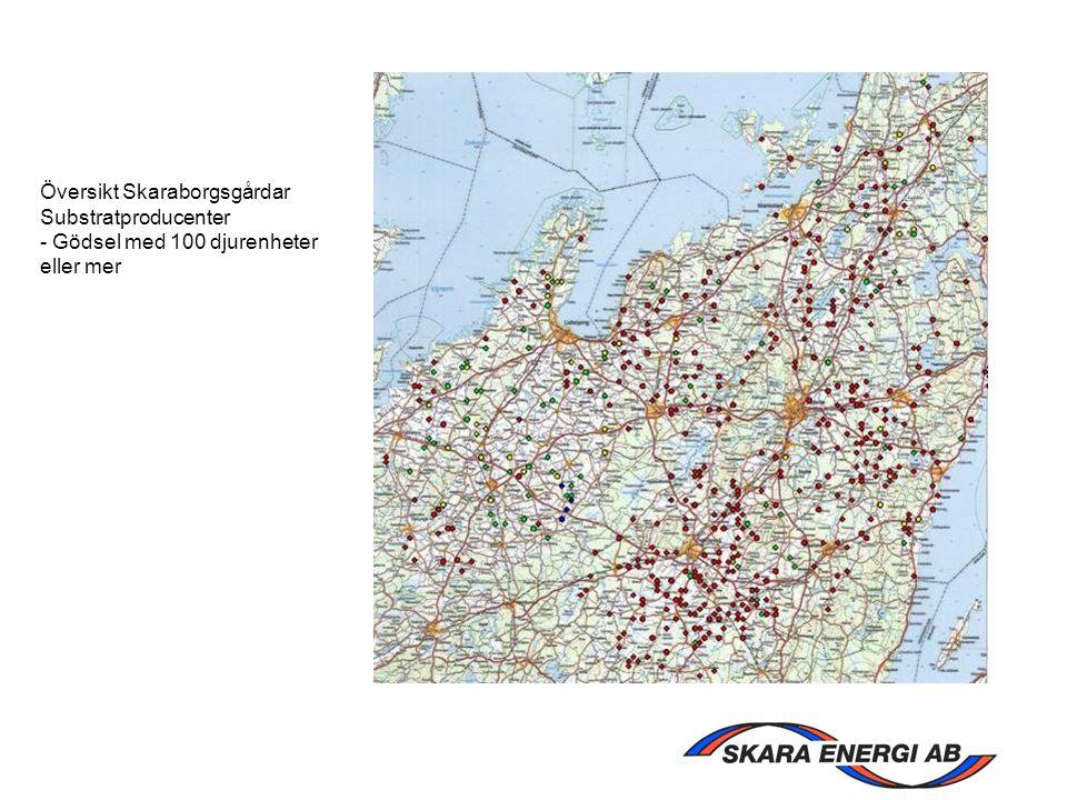 Översikt Skaraborgsgårdar Substratproducenter - Gödsel med 100 djurenheter eller mer