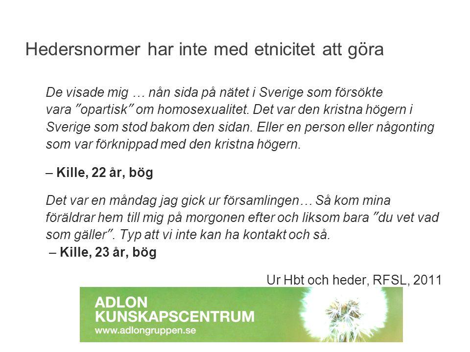 """De visade mig … nån sida på nätet i Sverige som försökte vara """"opartisk"""" om homosexualitet. Det var den kristna högern i Sverige som stod bakom den si"""