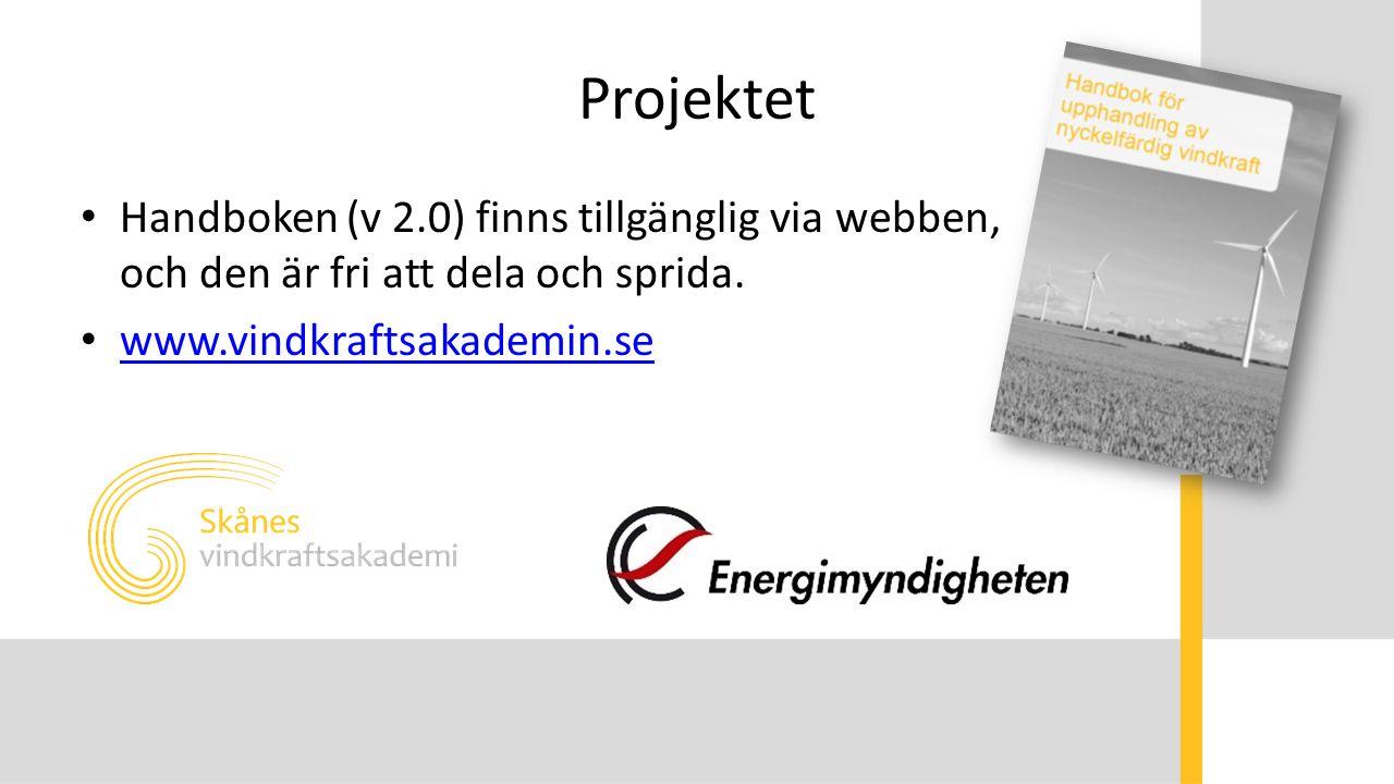 Projektet Handboken (v 2.0) finns tillgänglig via webben, och den är fri att dela och sprida. www.vindkraftsakademin.se
