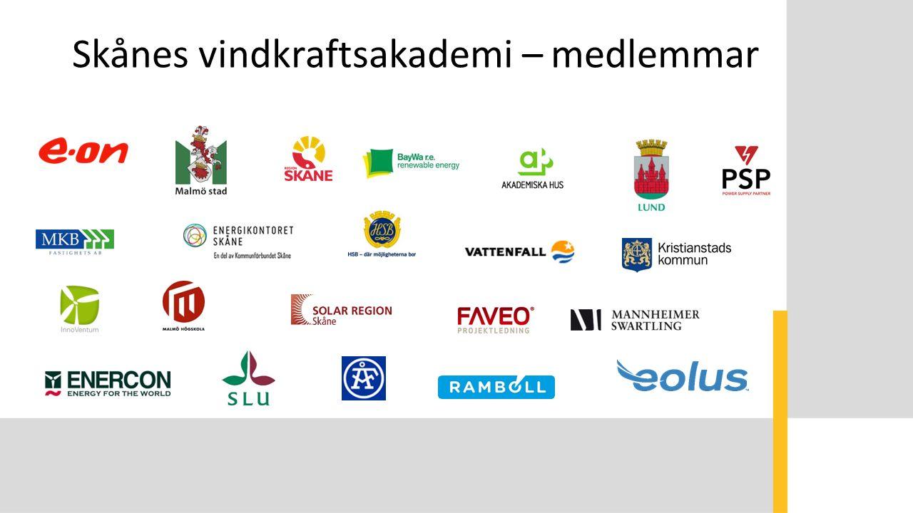 Skånes vindkraftsakademi – medlemmar