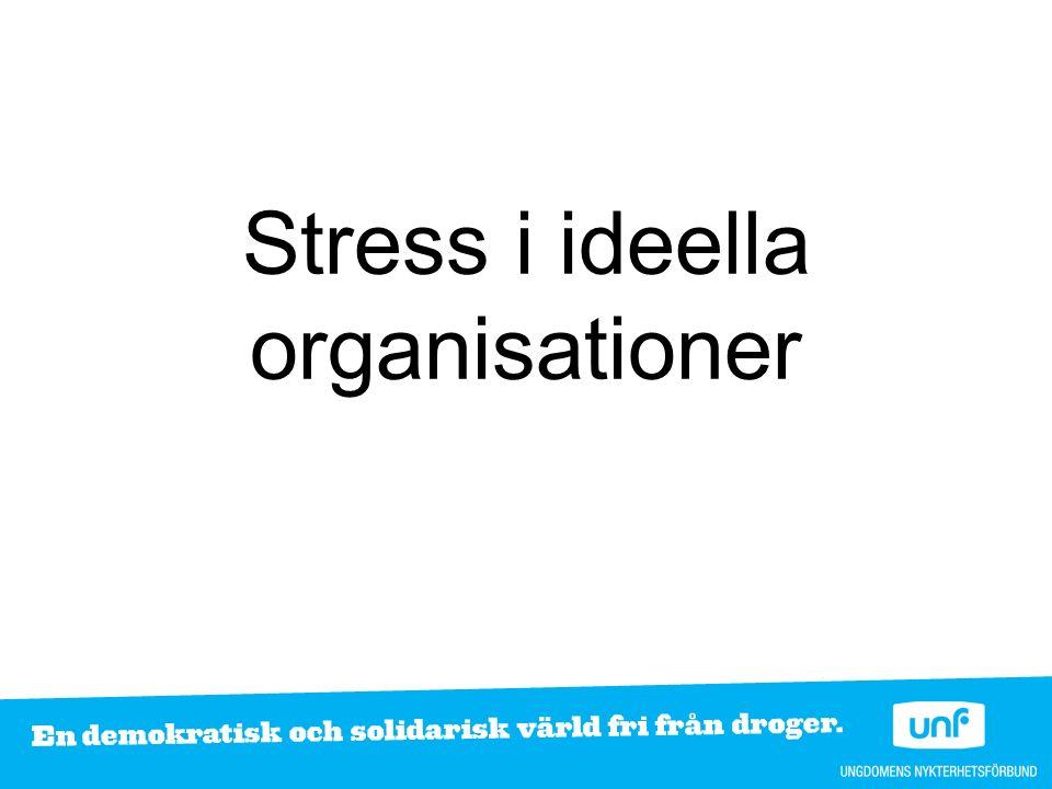 Stress i ideella organisationer