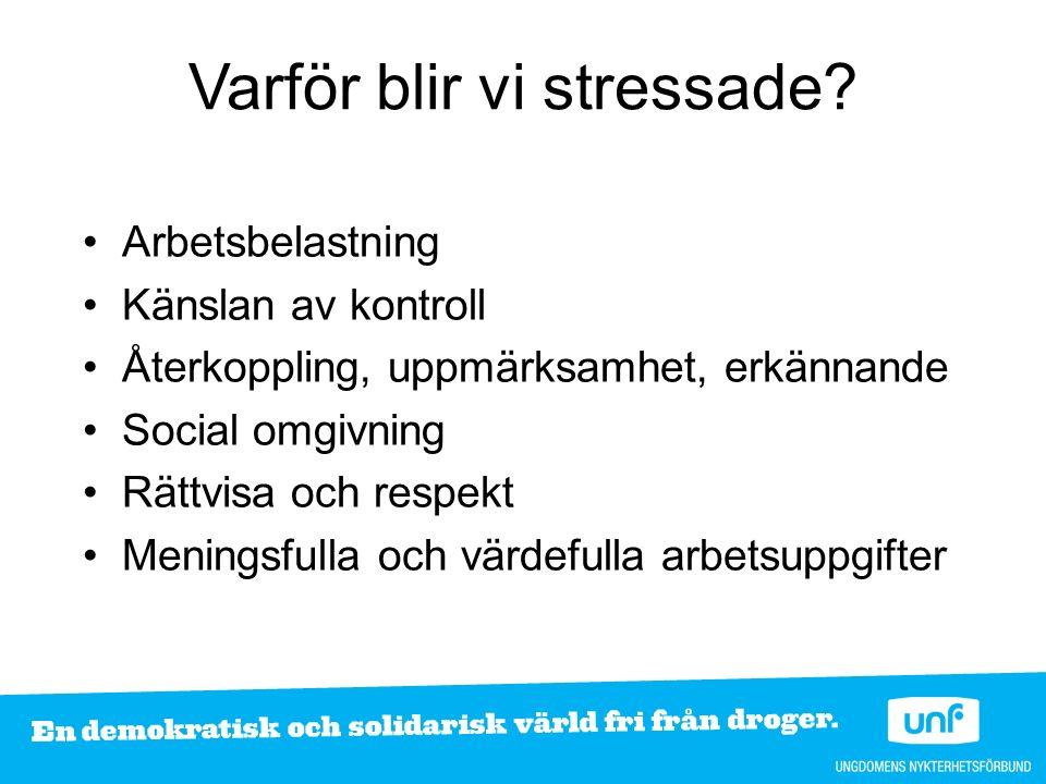 Varför blir vi stressade.