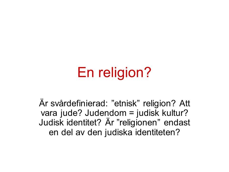 En religion. Är svårdefinierad: etnisk religion.