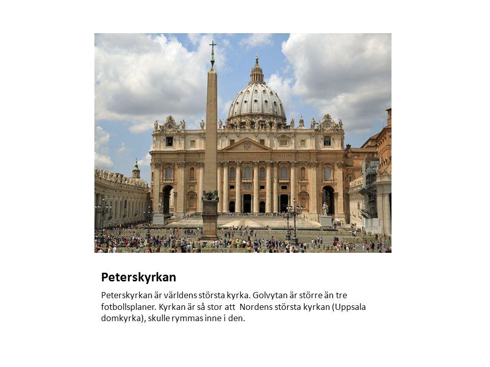 Peterskyrkan Peterskyrkan är världens största kyrka.