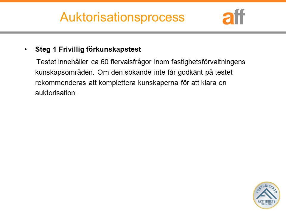 Steg 2 Ansökan Ansökan görs via AFF hemsida.