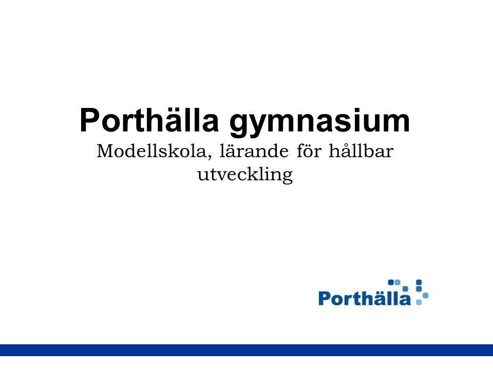Porthälla gymnasium Modellskola, lärande för hållbar utveckling